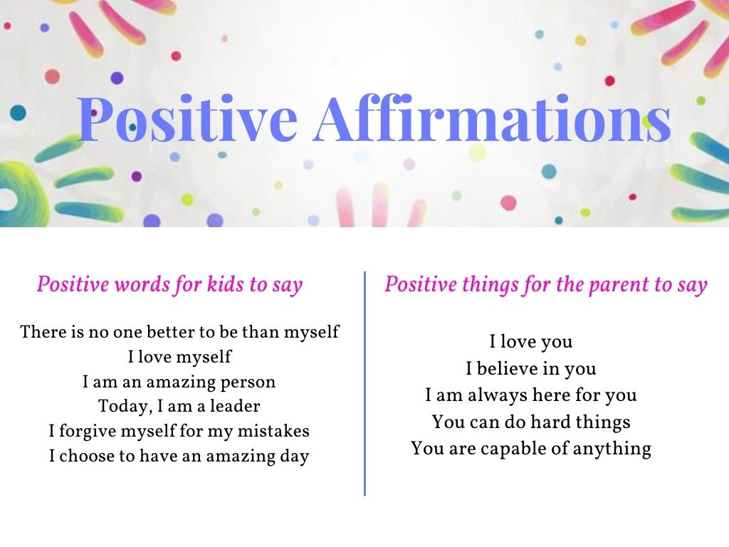 positive words for children's mental health
