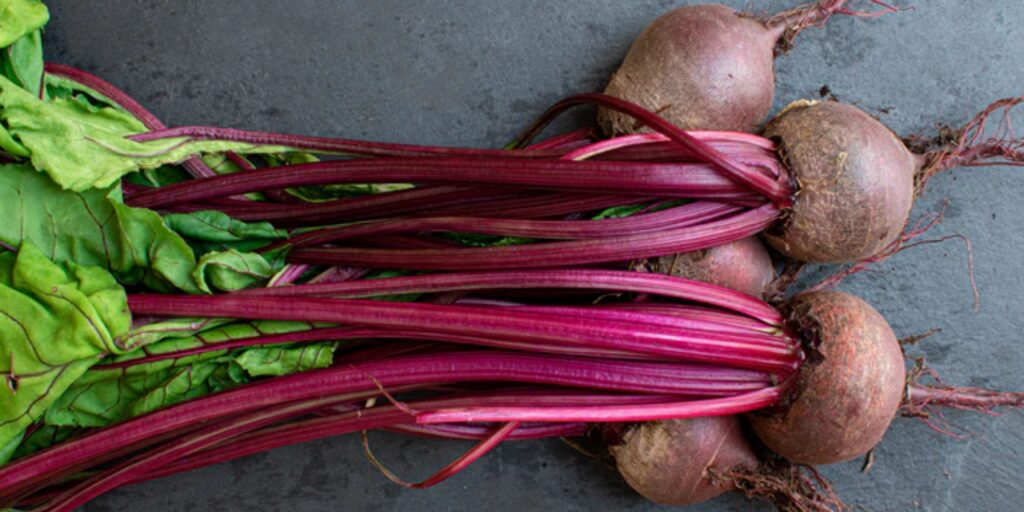 Beets with their stems