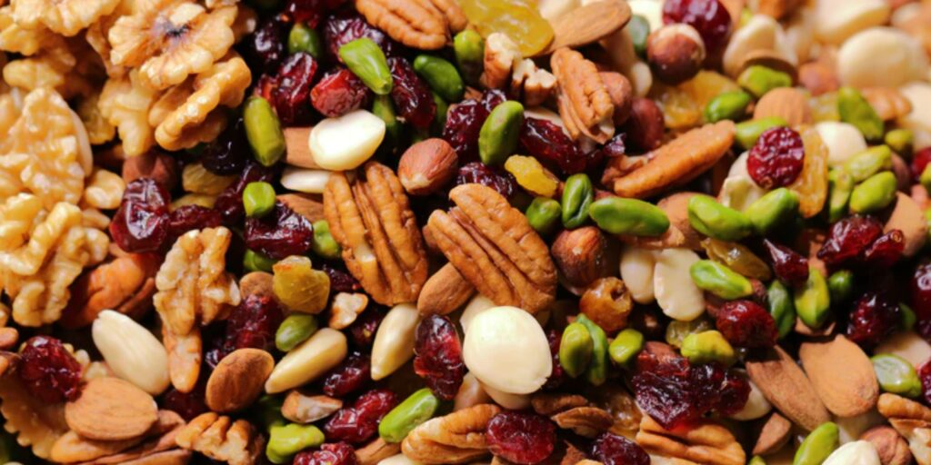 Nuts are packed with nutrients like omega 3 and Vitamin e that help prevent cognitive decline
